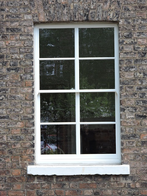 An old sash window restored